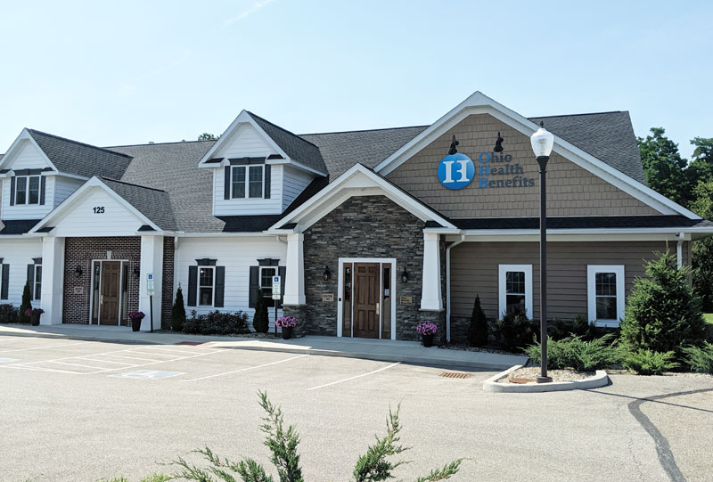 This picture shows the Tallmadge Office of Ohio Health Benefits at 125 West Avenue, Suite in Tallmadge, Ohio.