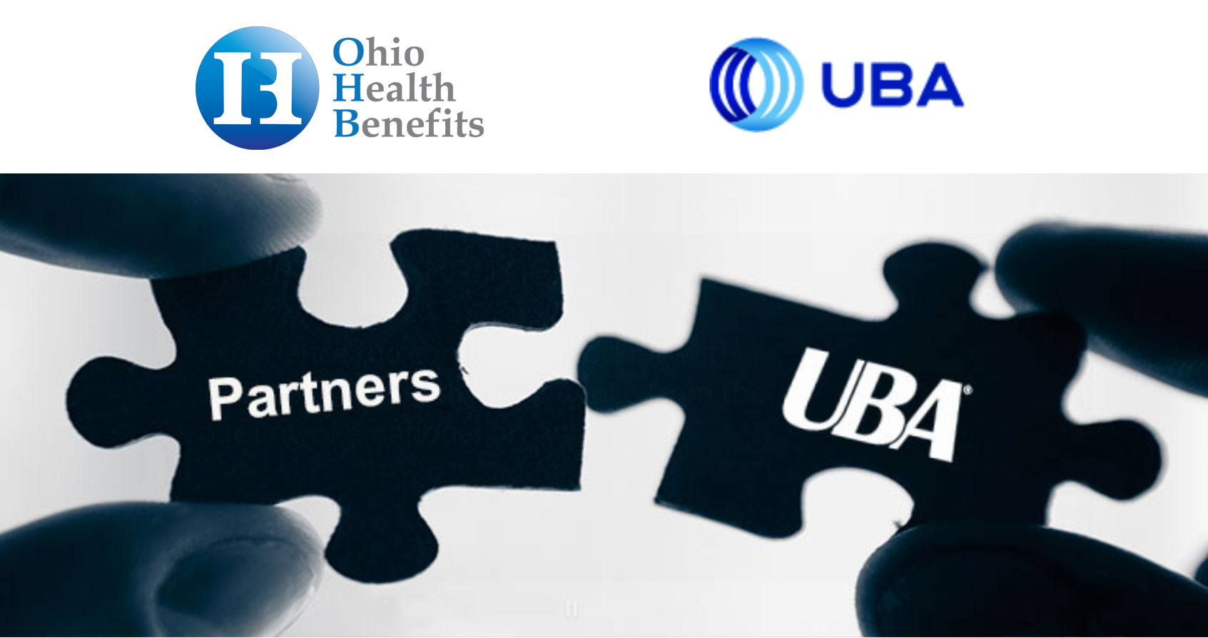 OHB and UBA partner together and image shows puzzle pieces
