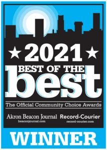 What an honor to have won the 2021 Best of the Best Community Choice Awards in the categories of Best Insurance Company and Best Customer Service from the Akron Beacon Journal and Record-Courier.